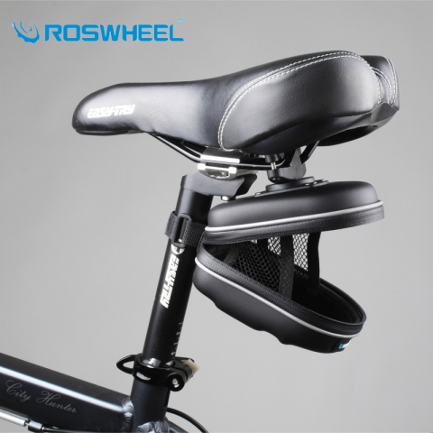 ROSWHEEL-Bicycle-Accessories-Saddle-Bag-Waterproof-EVA-Folding-Bike-Basket-Mountain-Bike-Bag-Rear-Pouch-Cycling