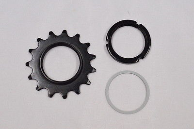 New-Black-15T-Track-Fix-Cog-with-Lockring