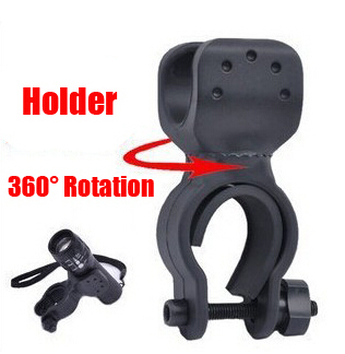 Universal-Bicycle-Bike-Flashlight-LED-Torch-Front-Light-Mount-Holder-360-Degree-Rotation-Cycling-Clip-Clamp